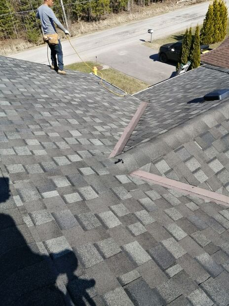Our Roofing Contractors working on a Residential roof in Newmarket Ontario